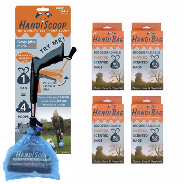 HandiScoop Easy Walk 45cm 320 bio bags Dragons Den Special